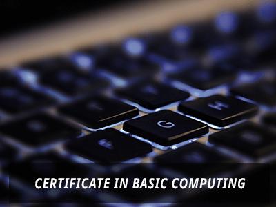 Certificate in Basic Computing